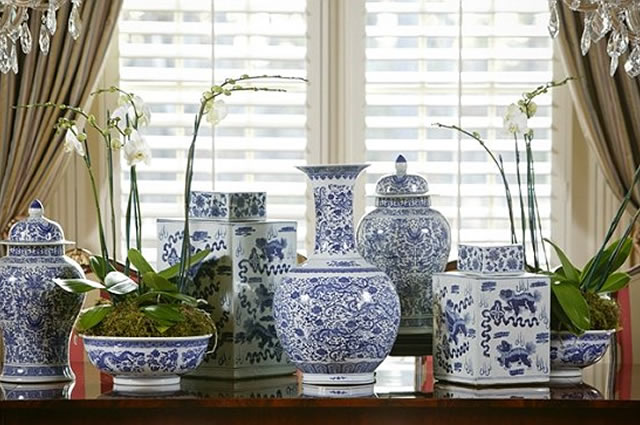Gorgeous Large Grouping Of Blue And White