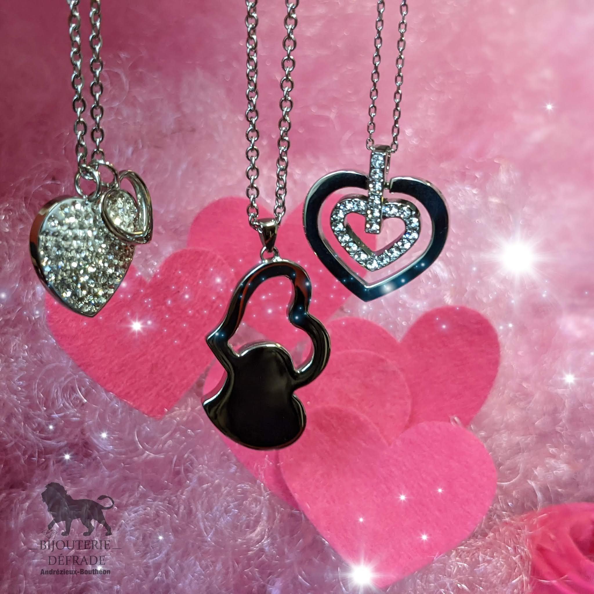 collier coeur st valentin