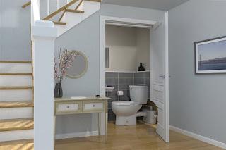First Story Bathroom in Keller Home