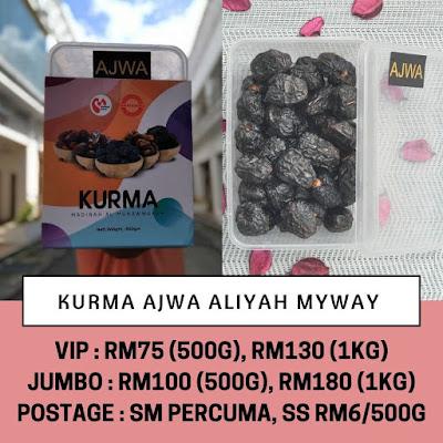 Harga terkini Kurma Ajwa MyWay