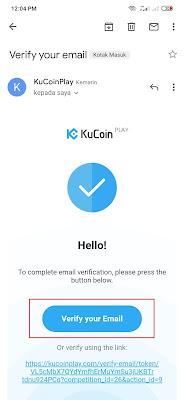 cara verifikasi email KuCoinPlay