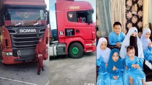 Curhat Wanita Bercadar Bawa Mobil Kontainer, Subhanallah!