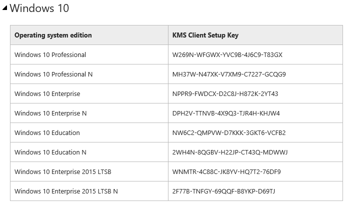 windows 10 enterprise ltsb activation key