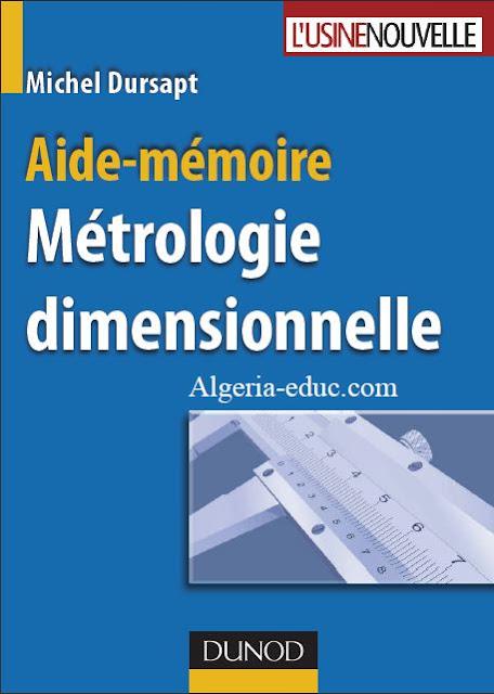 Télécharger Aide-Mémoire Métrologie dimensionnelle en pdf - Guide de métrologue - guide contrôleur qualité usinage