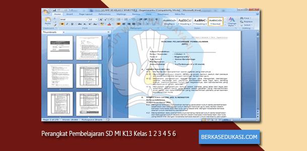 Perangkat Pembelajaran SD MI K13 Revisi 2019-2020 Kelas 1 2 3 4 5 6
