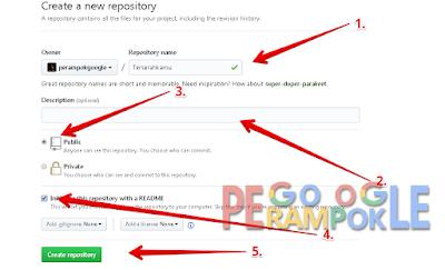 Cara mudah membuat repository di github