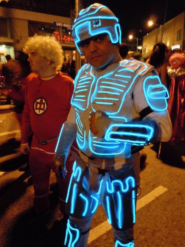 Homemade Tron costume West Hollywood Halloween