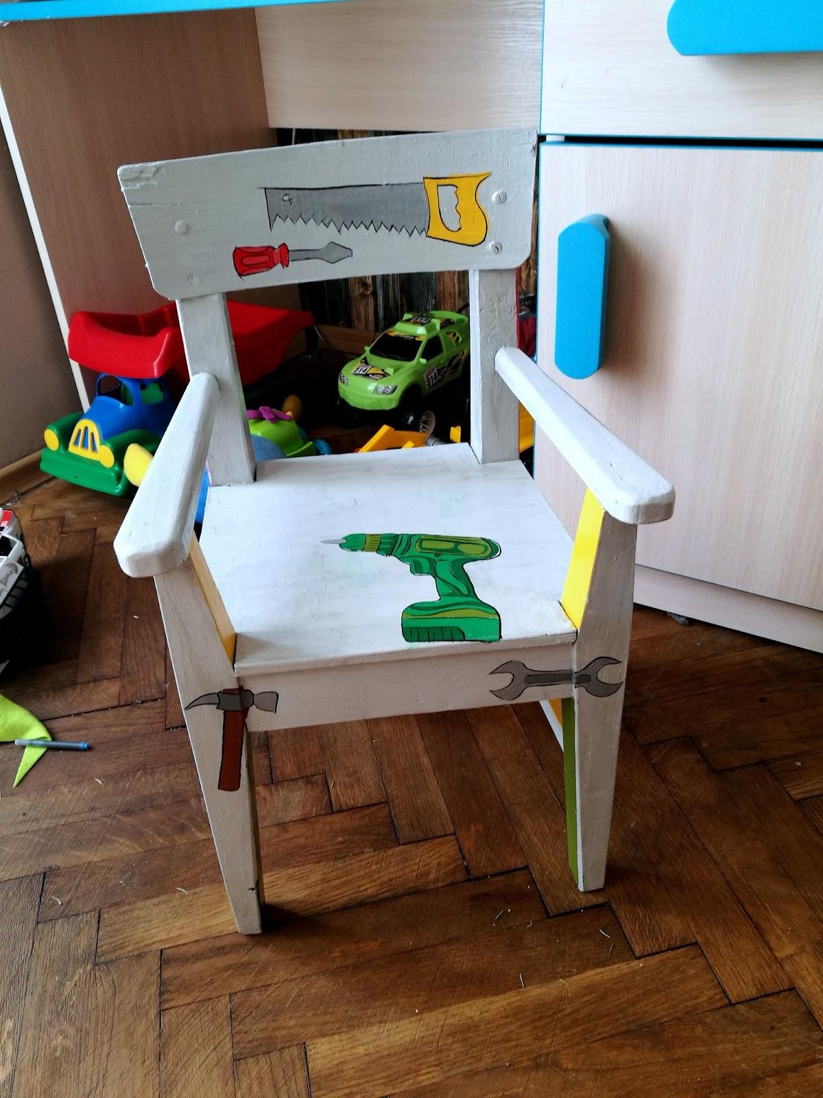 odkurzanie krzesła