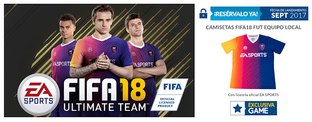 No te quedes sin la camiseta de FIFA 18 Ultimate Team de GAME