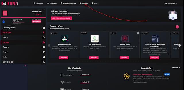 شرح موقع cointiply - ربح البيتكوين من مشاهدة الاعلانات