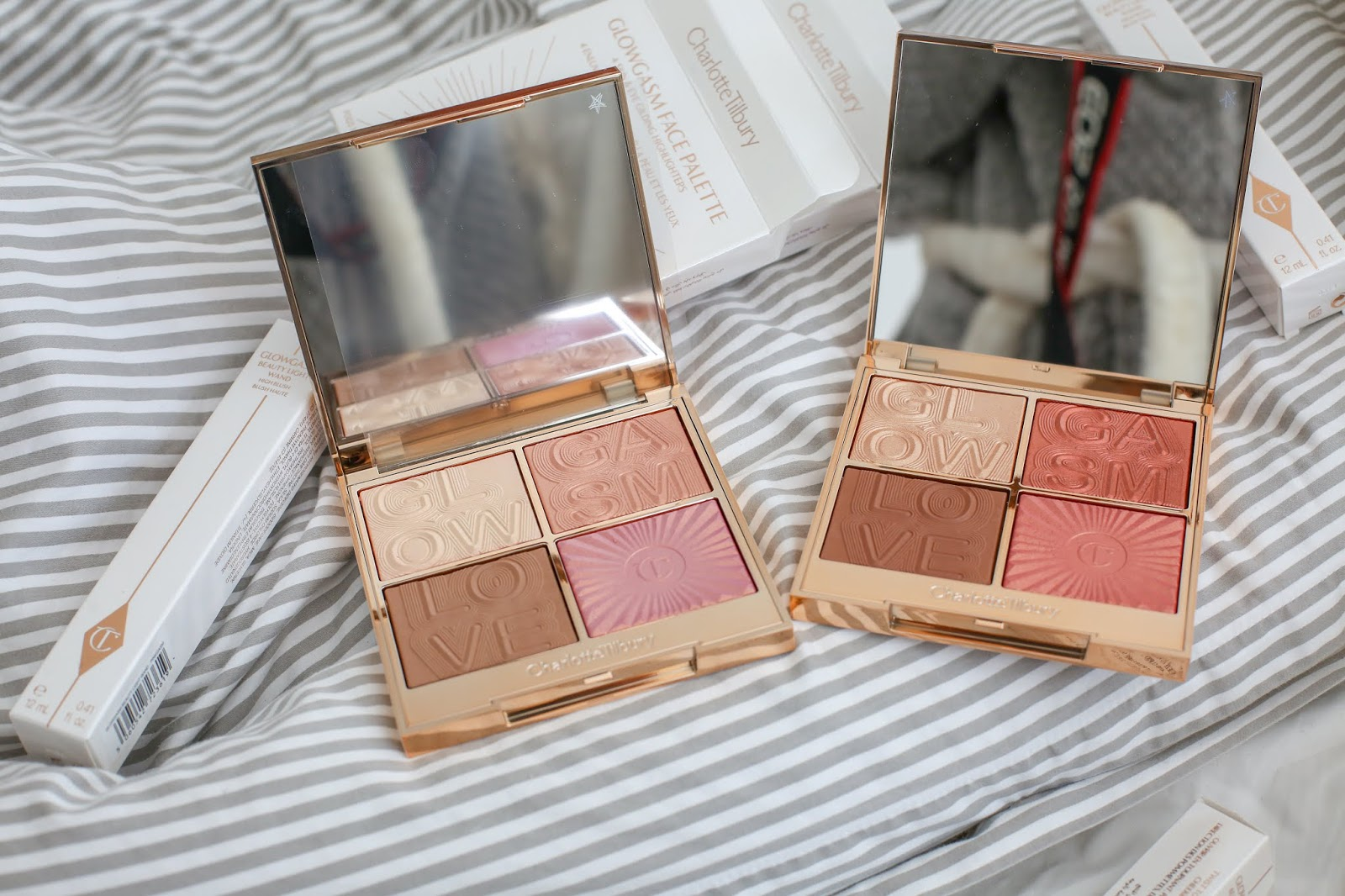 Charlotte Tilbury Lovegasm And Lightgasm Face Palette Review