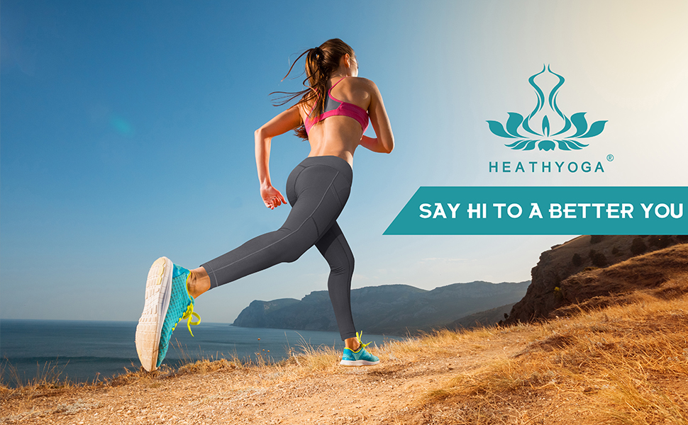 Heathyoga Yoga Leggings with Pockets for Women