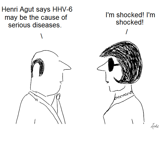 hhv-6, cartoon, henri agut, human herpes virus, aids, cfs, ms, chronic fatigue syndrome, gallo, john beldekas,