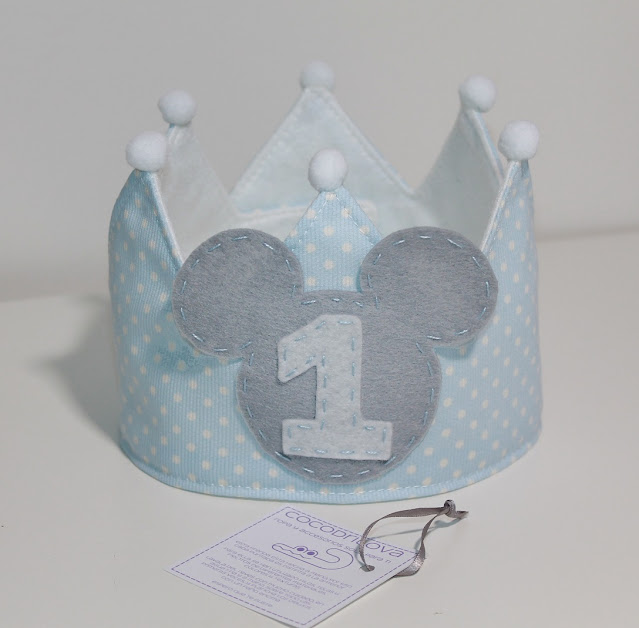 corona de cumpleaños 1 año mickey mouse