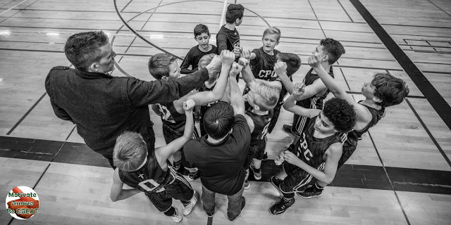 "Header image of the article: ""How To Motivate Youth Basketball Players"". A list of the best tips and strategies on how to motivate youth basketball players."