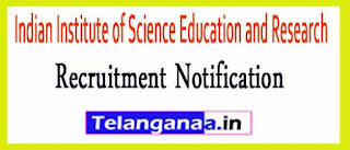 Indian Institute of Science Education and Research IISER Tirupati Recruitment Notification 2017