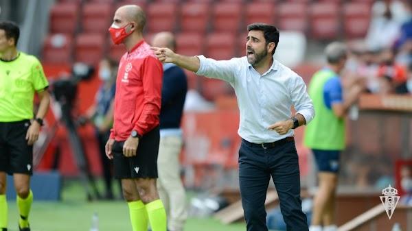 """David Gallego - Sporting -: """"El equipo ha tenido personalidad"""""""