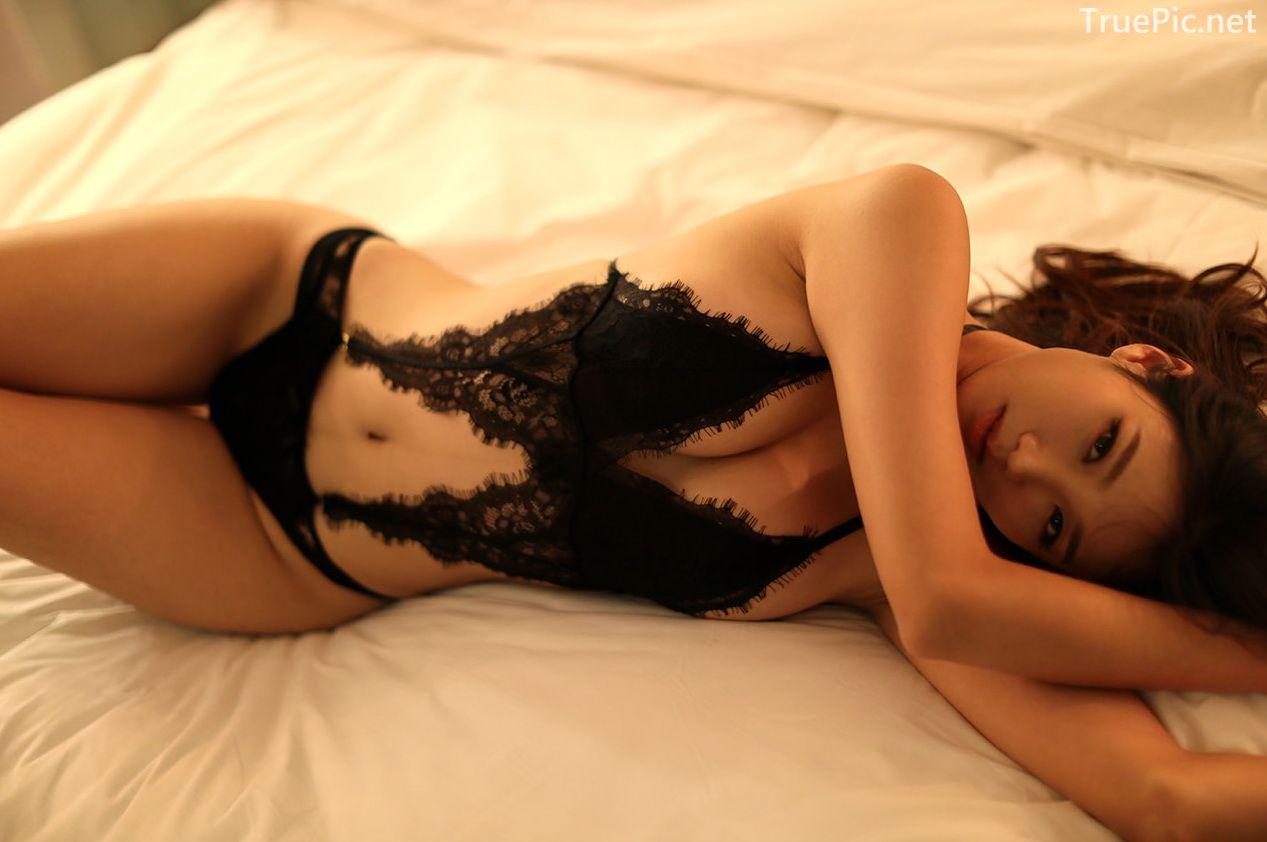 Lee Hee Eun - Bohemian lace black lingerie - Korean model and fashion - Picture 10