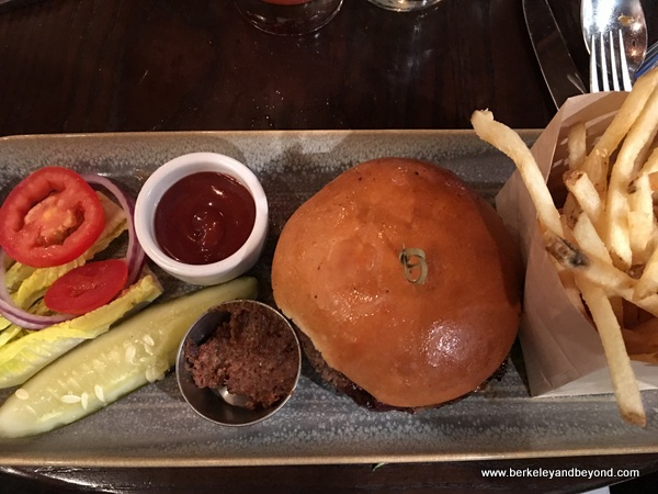 house burger at The Cooperage in Lafayette, California
