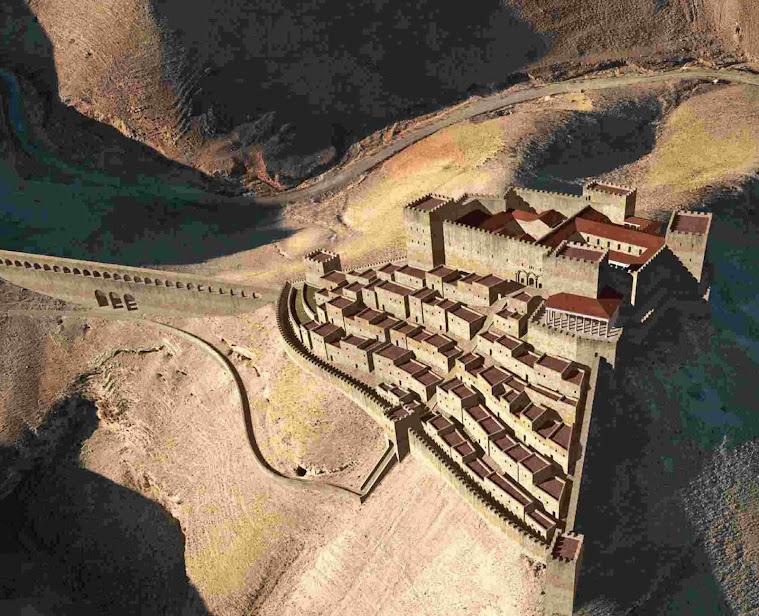 Reconstituição virtual da cidadela de Macharerus. Image credit Győző Vörös
