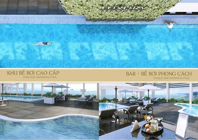 Khu bể bơi cao cấp dự án Luxury Apartment