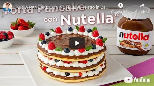 Ricetta Pancake Benedetta Rossi.Video Ricette Cucina Italiana Video Ricetta Torta Pancake Con Nutella Ricetta Facile Fatto In Casa Da Benedetta