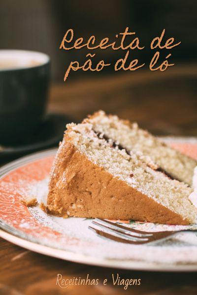Pão de ló é aquele bolo de massa bem fofinha e leve, veja aqui a receita