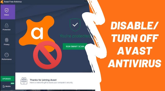 Disable/Turn Off Avast Antivirus Completely, Temporarily