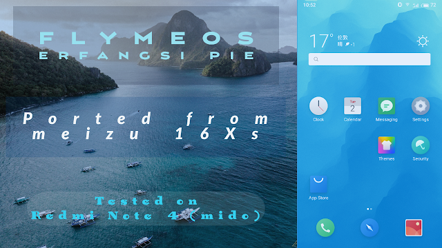 FlymeOS ErfanGSI Pie 20190702 AOnly Tested on Mido