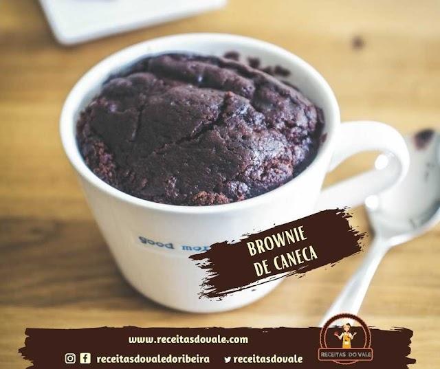Receita de Brownie de Caneca