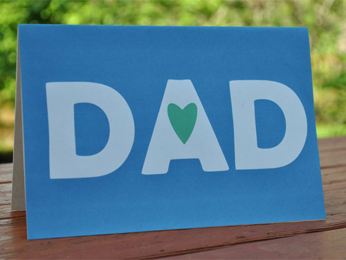 free fathers day card