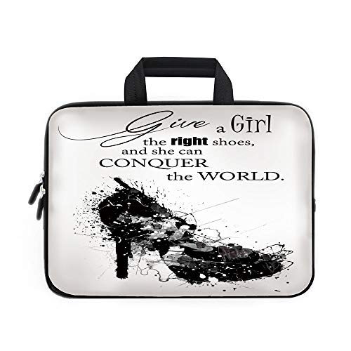 ff24d51aaeb2 Quote Laptop Carrying Bag Sleeve,Neoprene Sleeve Case/Give A Girl the Right  Shoes and She Can ...