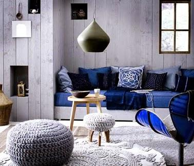 Sala acentos azules