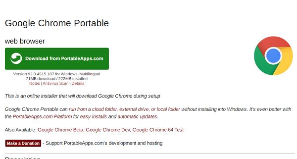 Tải Google Chrome Portable 92.0.4515 mới nhất - Chạy ngay không cần cài đặt a