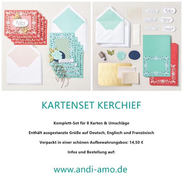 Stampin Up Kartenset Kerchief Produktlinie