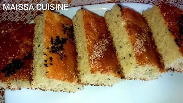 خبز الداربالفرينة والسميد لام وليد