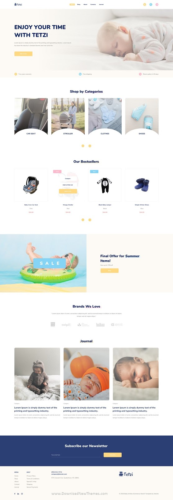 Baby & Kids eCommerce Adobe XD Template