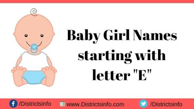 """Baby Girl Names starting with the letter """"E"""""""