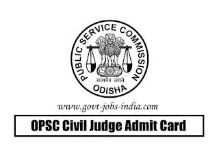 OPSC Civil Judge Admit Card 2019