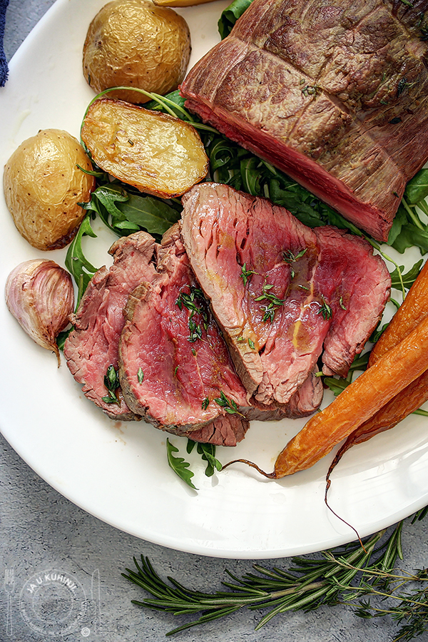 Beef Tenderloin with roasted carrots