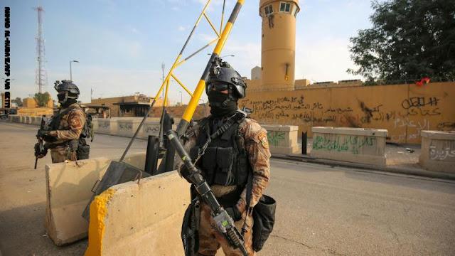 دوريات عسكرية بمحيط القواعد الأمريكية بعد الهجمات الصاروخية في العراق