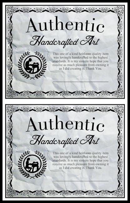 Scrollsaw Workshop Handcrafted Certificates DIY Scroll Saw