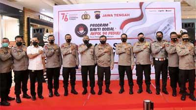 Alumni Akpol 94 Gelar Vaksinasi Massal dan Bakti Sosial di Semarang