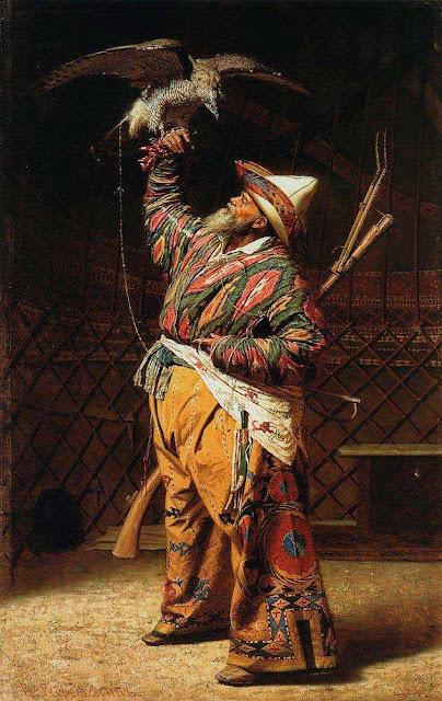 Василий Васильевич Верещагин - Богатый киргизский охотник с соколом. 1871