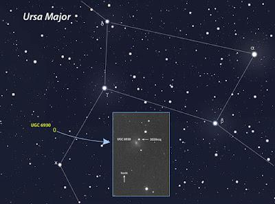 Sternkarte zum Auffinden des Objekts