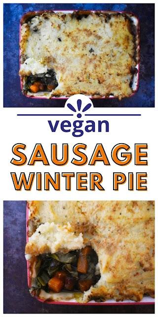 vegan sausage winter pie