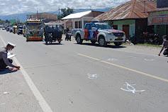 Yan Sihaloho Luka Parah Tabrak Mobil Yang akan Belok Arah di Pangururan