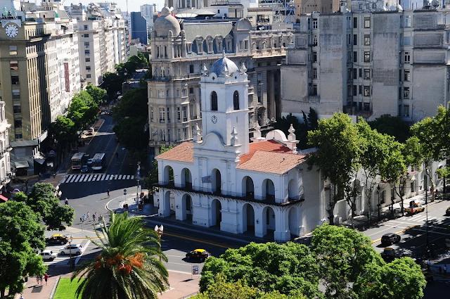 Foto actual del Cabildo de la Ciudad de Buenos Aires.