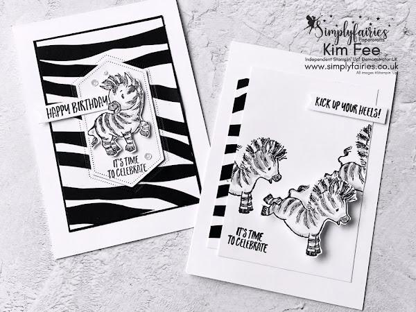 Zany Zebra Paper Technique Video, and Stamp Sale!