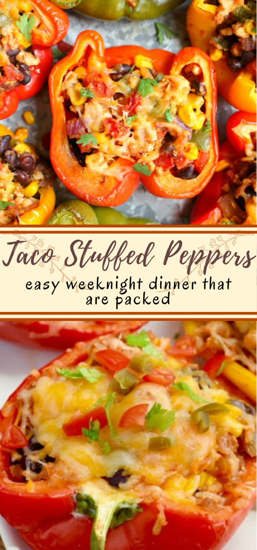 Taco Stuffed Peppers #vegan #vegetarian #soup #breakfast #lunch